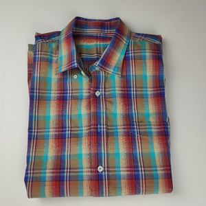 Alan Flusser Short Sleeve Button Up Shirt XXL